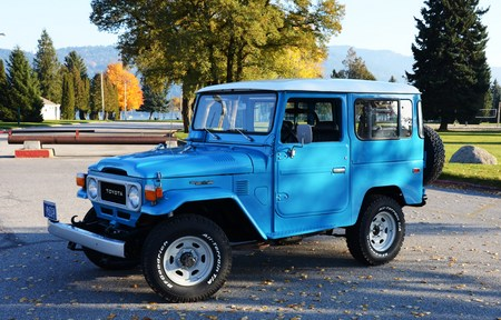 1979 FJ40 Sky Blue, PS, Full Frame Off Restoration. Beautiful