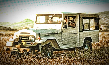 1964 FJ45 V8 Conversion, with roll up Mercedes Canvas