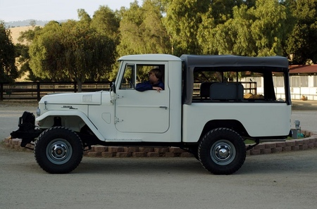 1964 FJ45 V8 Conversion Lily White, Rollup Mercedes Canvas