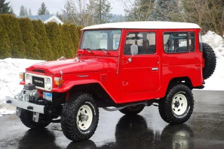 1983 FJ40 Factory AC PS in Freeborn Red