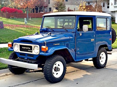 1983 BJ42 Factory AC PS H55 5 speed Nordic Blue